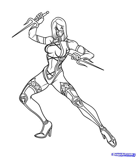 mortal kombat free colouring pages