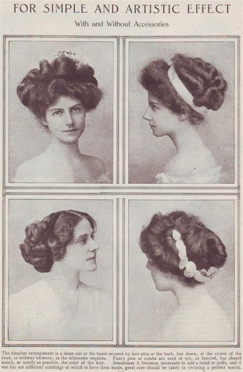 how to do hairstyles of 1900 edwardian era lisa s history room
