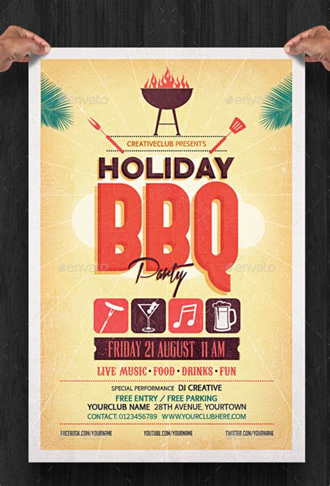 amazing holiday party flyer template 9 download