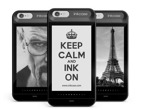 oaxis inkcase i6 iphone with e ink display for iphone 6 6s 187 gadget flow