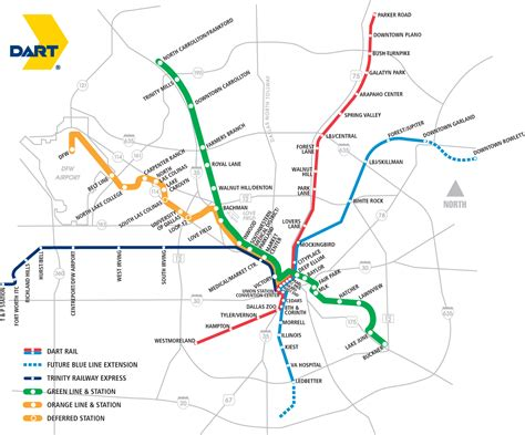 dart map dallas area rapid transit inmotion 2008 staying on track