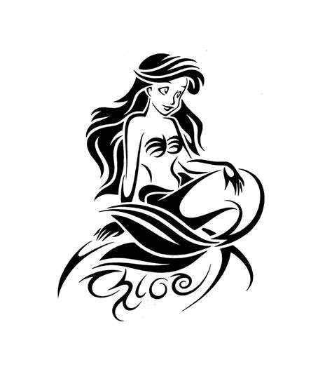 ariel the little mermaid tattoo designs the mermaid tribal design by jsharts on