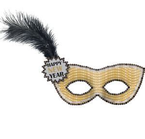 new year mask images gold sequin happy new year masquerade mask 8in x 9in