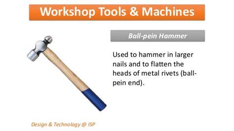 design technology definition workshop tools machines