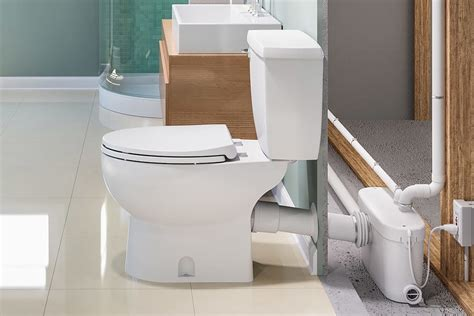 can i put a bathroom in my basement how do saniflo up flush toilets work qualitybath com
