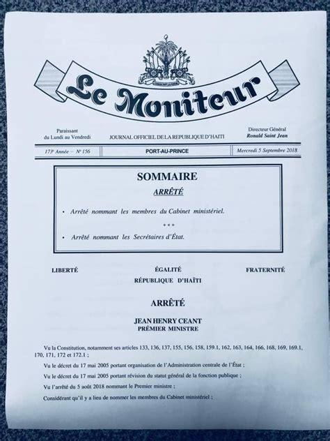 Nouveau Cabinet Ministeriel by Publication De L Arr 234 T 233 Nommant Les Membres Du Nouveau