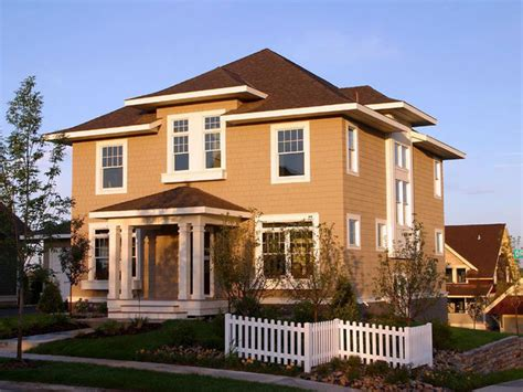 square home american four square front exterior traditional exterior minneapolis by brenner