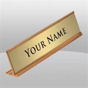 Name Plate Holder For Desk Gold Desk Name Plate The Finer Line Inc