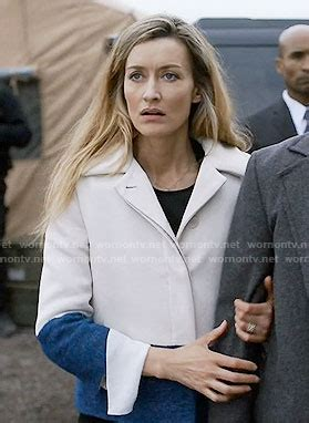 designated survivor alex wornontv alex s blue and white colorblock jacket on