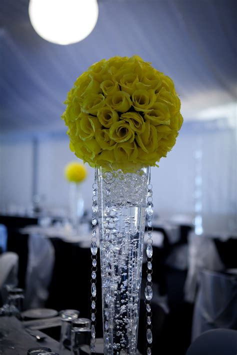 Yellow Pomander Kissing Ball Centerpiece Angel S Party Floral Balls Centerpieces