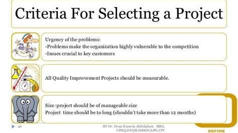Criteria For Choosing Mba by Dmaic Improvement Approach