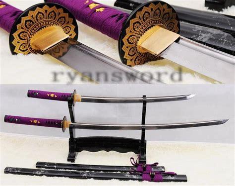 Handmade Wakizashi - handmade folded steel japanese samurai sword set katana