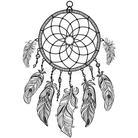dream catcher tattoo vector native american indian talisman dreamcatcher stock vector