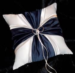 navy blue and silver white or ivory wedding ring bearer