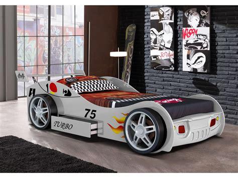 lits voiture lit voiture runner avec tiroir 90x200 cm blanc