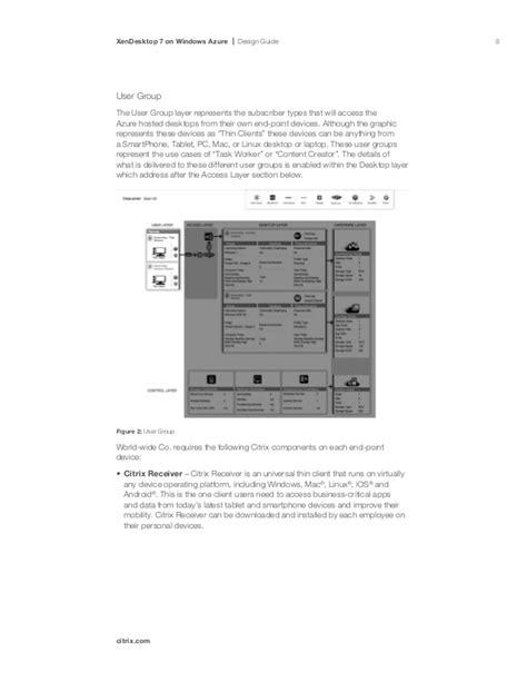 design guidelines windows 7 xendesktop 7 on windows azure design guide