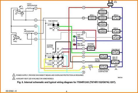 4 wire thermostat schematic wiring diagram