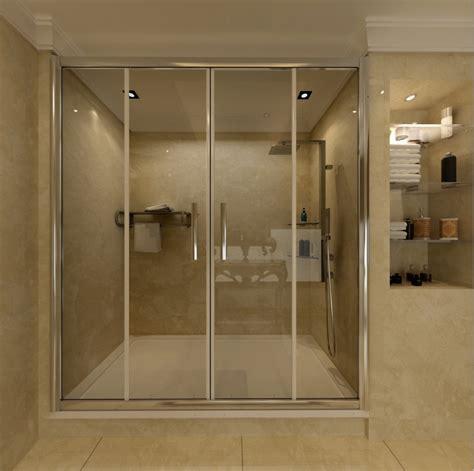 Shower Door Companies Chrome Sliding Bathroom Walk In Shower Door Enclosure Screen Tray Ebay