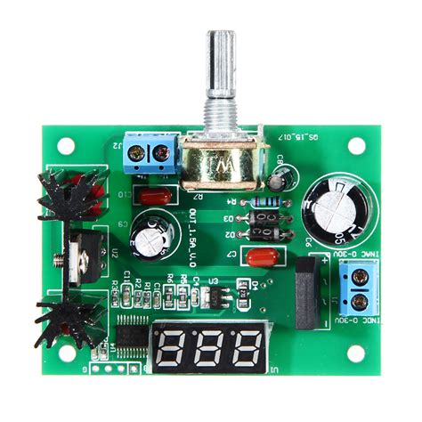 Power Suplay Regulator 2 lm317 ac dc adjustable voltage regulator step power supply module with led display 2a in