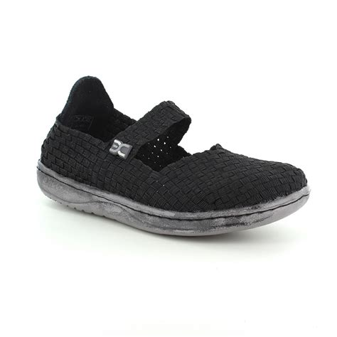 hey dude e last womens slip on shoes black glitter