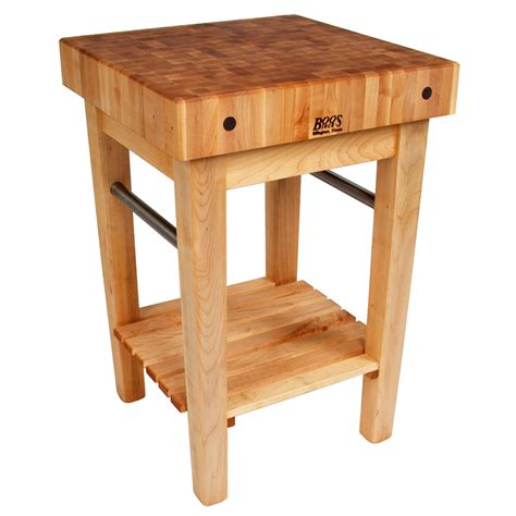 boos ppb3624 4 quot maple top butcher block work table w