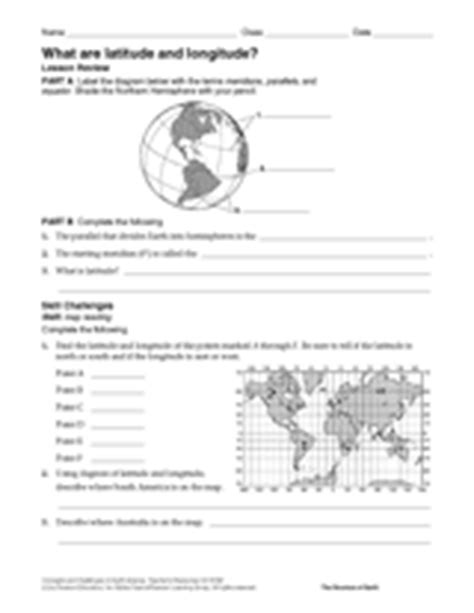 latitude and longitude worksheets for 6th grade what are latitude and longitude geography printable 6th 12th grade teachervision