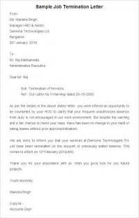 Termination Letters Contract Termination Letter Sample