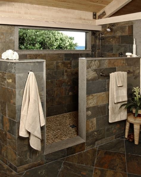bathroom designs walk in showers without doors ideas