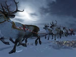 santa flying reindeer wallpaper free hd santa download