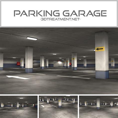 3d garage parking garage 3d model