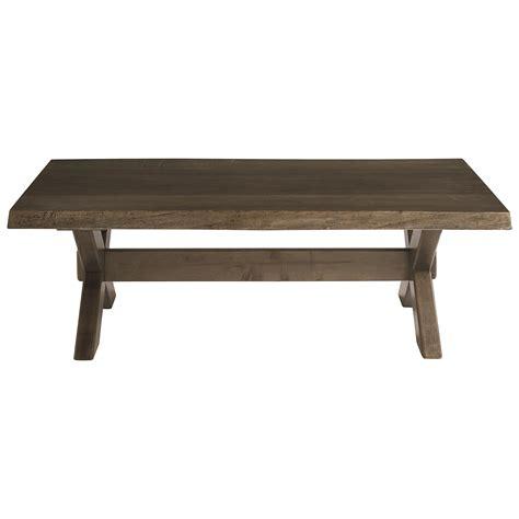 southbridge live edge dining table bassett bench made cross buck live edge cocktail table