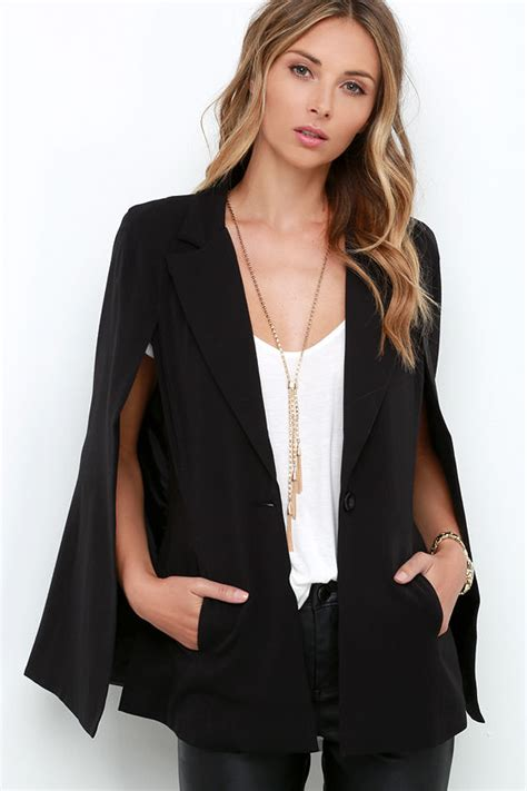 Cape Blazer Chic Black Cape Cape Blazer Black Blazer 68 00