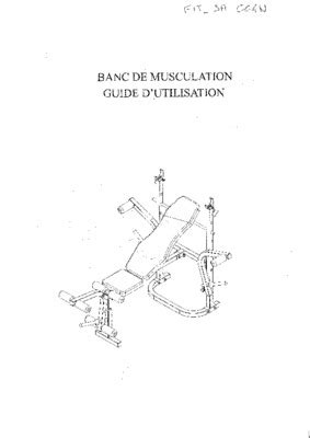 Banc De Musculation Basic by Banc Musculation Basic Pdf Notice Manuel D Utilisation