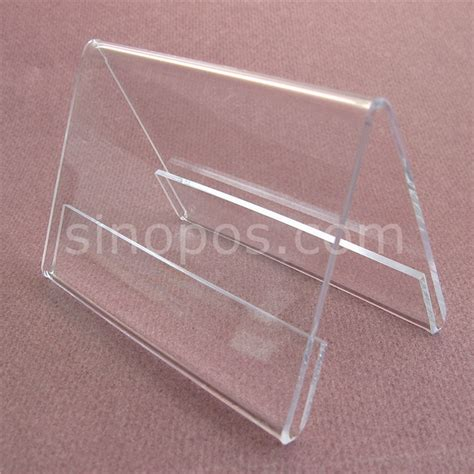 clear plastic table sign holders aliexpress com buy acrylic sides sign holder