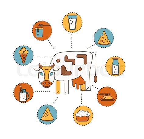 design icon products dairy product icon set milk cheese ice cream butter