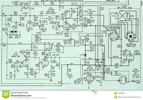 schematic diagram in electronics electronic circuit schematic detail diagram stock photo