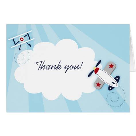 aviator boy thank you note card size zazzle