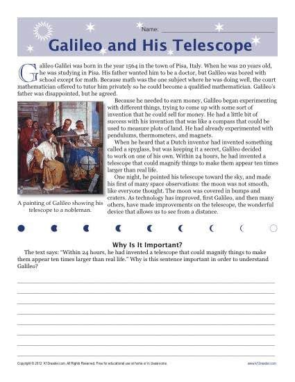 galileo biography for middle school 17 best images about sixth grade reading 1 on pinterest