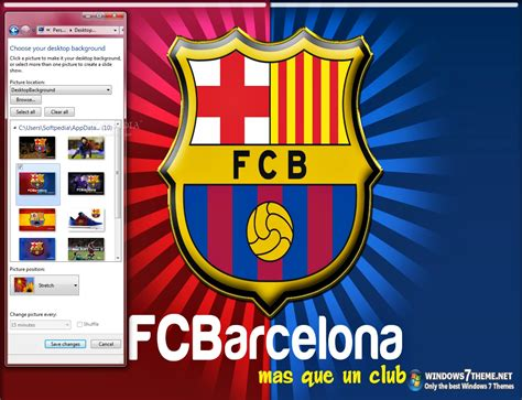 download themes windows 7 barcelona fc barcelona windows 7 theme with song download