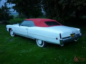1973 Cadillac Eldorado Convertible Parts Cadillac Eldorado 1973 White Convertible Buy It Now Price