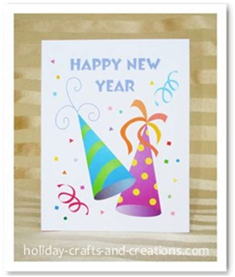 new year cards craft printable new years invitations and cards