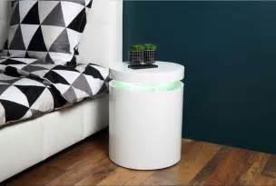 beistelltisch wohnzimmer beistelltisch rund wei 223 aus lackiertem hochglanz polieren