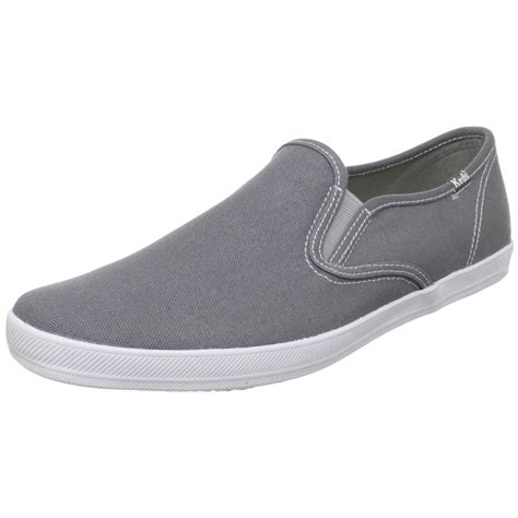 keds keds mens chion slipon canvas sneaker in gray for