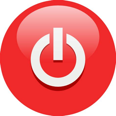 Red power button clip art free vector 4vector