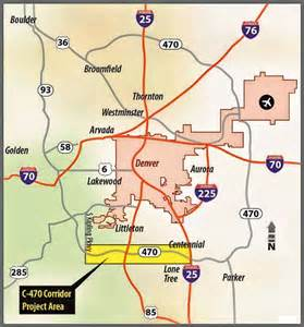 colorado toll roads map c 470 express toll project to ease highway congestion