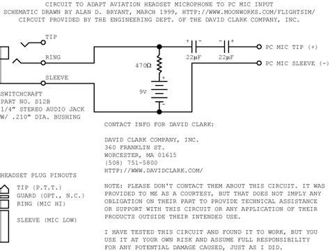 david clark headset wiring diagram general aviation headset wiring diagram efcaviation