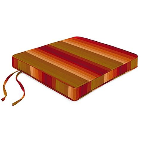 bed bath and beyond astoria 20 inch chair cushion in sunbrella 174 astoria sunset bed