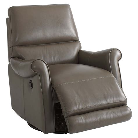 leather recliner swivel brown leather swivel recliner