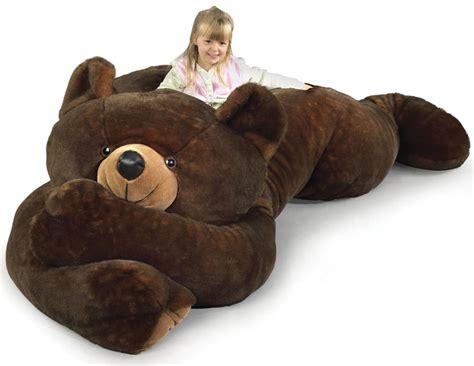 giant teddy bear bed 7 1 2 foot slumber bear bears bean bags and teddy bears
