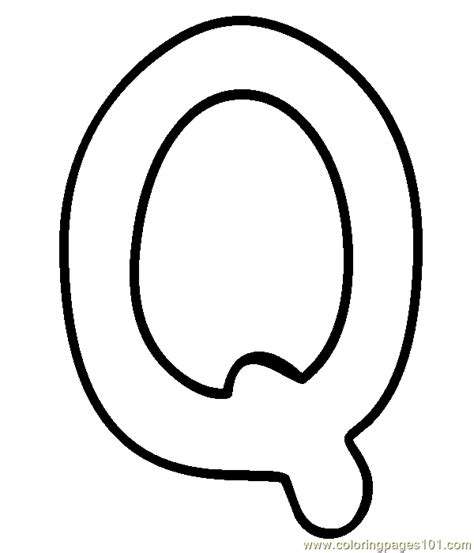 q coloring page free alphabets coloring pages